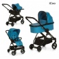 Коляска 3 в 1 iCOO Acrobat XL Trio Set Fishbone Blue