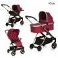 Коляска 3 в 1 ICOO Acrobat XL Trio Set Diamound Ruby