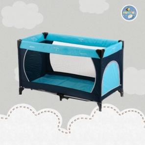 Манеж Hauck Dream`n Play Plus  (navy/sand/light blue)
