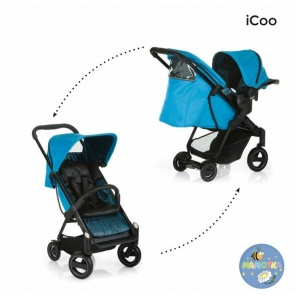 Прогулочная коляска iCoo ACROBAT Shop N Drive (fishbone blue)