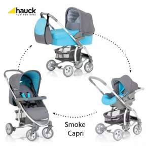 Коляска 3х1 Hauck Malibu All in One Smoke Capri