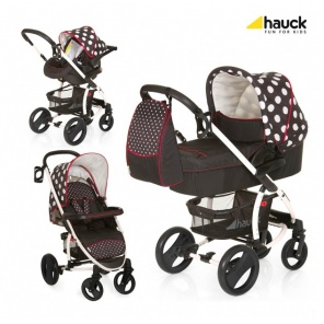 Коляска 3х1 Hauck Malibu XL  All in One Dost Black