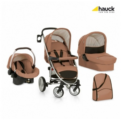 Коляска 3х1 Hauck Malibu XL All in One Toast Black