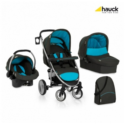 Коляска 3х1 Hauck Malibu XL All in One Store AQUA